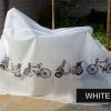 ผ้าคลุมจักรยาน ผ้าใบคลุมจักรยาน มอเตอร์ไซต์กันน้ำ กันฝุ่น กันฝน ผ้าพลาสติกกันฝน คลุมจักรยาน- สีขาว