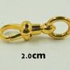 สปริงก้ามปูทองคำแท้ 90% แบบไม่หมุน ขนาด 2.0ซม.