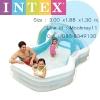 Intex Swim center family Cabana pool สระน้ำคาบาน่า 57198+สูบไฟฟ้า