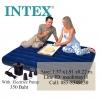 ที่นอนเป่าลม Intex 68758 สีน้ำเงิน แถมสูบลมไฟฟ้า+หมอน2ใบ ขนาด 137x191x22 ซม.(4.5 ฟุต)