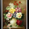 แจกันดอกไม้หลากสี