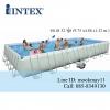 Intex Ultra Frame Pool 32 ฟุต เครื่องกรองระบบทราย (9.75 x 4.88 x 1.32 ม.) 28372