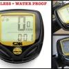 ไมล์จักรยานไร้สายกันน้ำ SUNDING- SD-548c- รุ่น ยอดนิยม วัดความเร็ว-ระยะทาง-เวลา - สีดำกรอบเหลือง