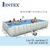 จำหน่าย สระน้ำสำเร็จรูป Intex Ultra Frame Pool 24 ฟุต ระบบน้ำเกลือ-ทราย (7.32 x 3.66 x 1.32 ม.) 28366