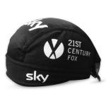 หมวกแบบผูก สำหรับนักปั่นจักรยาน ผ้าโพกหัวนักปั่น ผ้าตาข่ายระบายลม ลายทีม SKY ดำ - FREE SIZE
