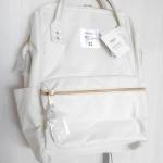 กระเป๋าเป้ anello lotte พร้อมส่ง ไซส์ Mini สี White ขาวอมครีม มีซิปด้านหลัง