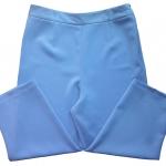 กางเกงขาบาน5ส่วน ผ้าฮานาโกะ ซิปซ้าย ไม่มีกระเป๋า สีฟ้าคราม Size S M L XL