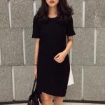 Black Dress with White Hem