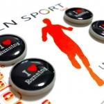 LN Sport ตัวติดเบอร์วิ่ง Runnap (BIB Race Number Holder) ลาย i &#x2764️ running