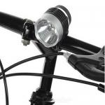 ไฟหน้าจักรยาน Multifunction Ultra Ray LED 3 WATT RETRO STYLE กันน้ำได้ (สีดำ-เงิน)