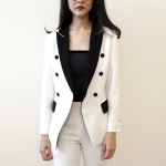 Double-Breasted Blazer l Two Tone