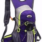 เป้น้ำ สีม่วง (กระเป๋าแบคแพค + ถุงน้ำ ขนาด 2 ลิตร) Hydration Back Pack with Water Bag