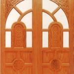ประตูไม้สน อเมริกา CITY TSD93 ขนาด 80x200