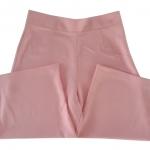 กางเกงขาบาน5ส่วน ผ้าฮานาโกะ ซิปซ้าย ไม่มีกระเป๋า สีชมพู Size S M L XL