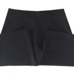 กางเกงขาบาน5ส่วน ผ้าฮานาโกะ ซิปซ้าย ไม่มีกระเป๋า สีดำ Size S M L XL