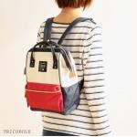กระเป๋าเป้ anello lotte พร้อมส่ง ไซส์ Mini สีไตร Tri color (โทน 3 สี)
