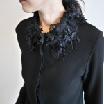 Shirt with Lace Collar