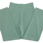 กางเกงขายาวผ้าฮานาโกะ ขากระบอกเอวสูง สีเขียวมิ้น Size S M L XL