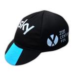 หมวกแก๊ป จักรยาน ผ้าตาข่ายระบายลม Sky (สีดำแแถบฟ้า)