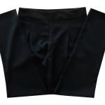 กางเกงขาเดฟเอวสูงจีบทวิตหน้า ผ้าฮานาโกะ สีดำ Size S M L XL