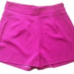 กางเกงขาสั้นเอวสูงผ้าฮานาโกะ สีบานเย็น กระเป๋าขวา ซิปซ้าย Size S M L XL