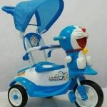 """จักรยานสามล้อมีที่กั้นเด็กพร้อมร่มบังแดด ลิขสิทธิ์แท้""""โดเรมอน"""