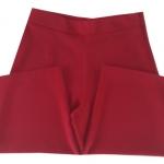 กางเกงขาบาน5ส่วน ผ้าฮานาโกะ ซิปซ้าย ไม่มีกระเป๋า สีเลือดหมู Size S M L XL