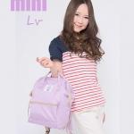 กระเป๋าเป้ anello lotte พร้อมส่ง ไซส์ Mini สีพาสเทล Lavender สีม่วงอ่อน