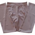 กางเกงขากระบอกเอวสูง ผ้าฮานาโกะ สีน้ำตาลนู๊ด Size S M L XL