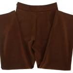 กางเกงขากระบอกเอวสูง ผ้าฮานาโกะ สีน้ำตาลเข้ม Size S M L XL