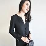 Long Sleeve Button-Down Midi Dress