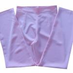 กางเกงขายาวผ้าฮานาโกะ ขากระบอกเอวสูง สีชมพู Size S M L XL