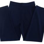 กางเกงขากระบอกเอวสูง ผ้าฮานาโกะ สีกรมท่า Size S M L XL