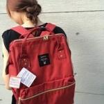 กระเป๋าเป้ anello lotte พร้อมส่ง สี Red (แดง)