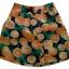 กางเกงขาสั้นและเสื้อผ้ามิลินพิมพ์ลายส้ม กระเป๋าขวา ซิปซ้าย เอวยางยืดหลัง thumbnail 3
