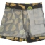 กางเกงขาสั้นเอวสูงผ้าฮานาโกะลายกล้วยสีดำ กระเป๋าขวาซิปซ้าย Size S M L XL thumbnail 2