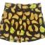 กางเกงขาสั้นเอวสูงผ้าฮานาโกะลายกล้วยสีดำ กระเป๋าขวาซิปซ้าย Size S M L XL thumbnail 1