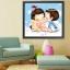 อุปกรณ์งานฝีมือ DIY ครอสติสคริสตัลรูปการ์ตูนคู่รักแสนน่ารัก thumbnail 1