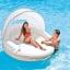 Intex Canopy Island Inflatable Lounge แพยางสีขาวมีร่ม 58292 thumbnail 1