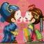 การ์ตูนคู่รักจีนสุดน่ารัก (ขนาดเล็ก มีพื้นหลัง 4 สี ขาว แดง ชมพู และฟ้าคราม) thumbnail 1