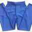 กางเกงขากระบอกเอวสูง ผ้าฮานาโกะ สีน้ำเงิน Size S M L XL thumbnail 2